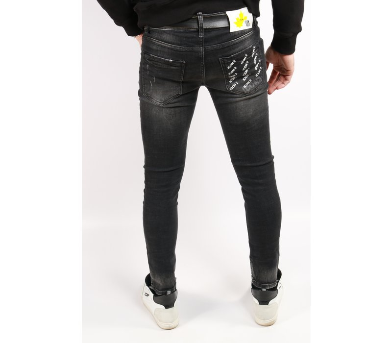 Get Well Jeans Icon 5457 Black/Yellow