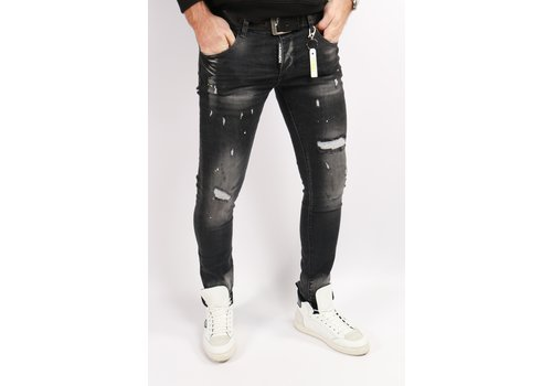 Get Well Jeans Icon 6457 Black/Yellow