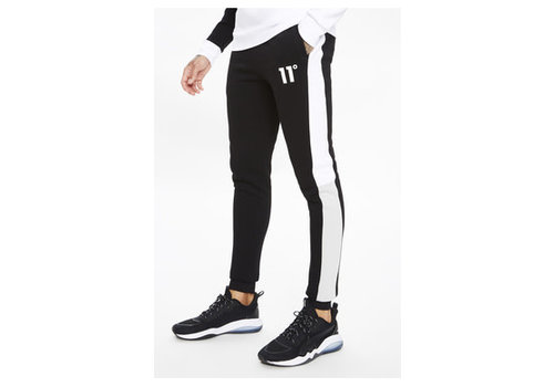 11 Degrees 11 Degrees Boxy Block Joggers Regular Fit Black/Lightgrey/White
