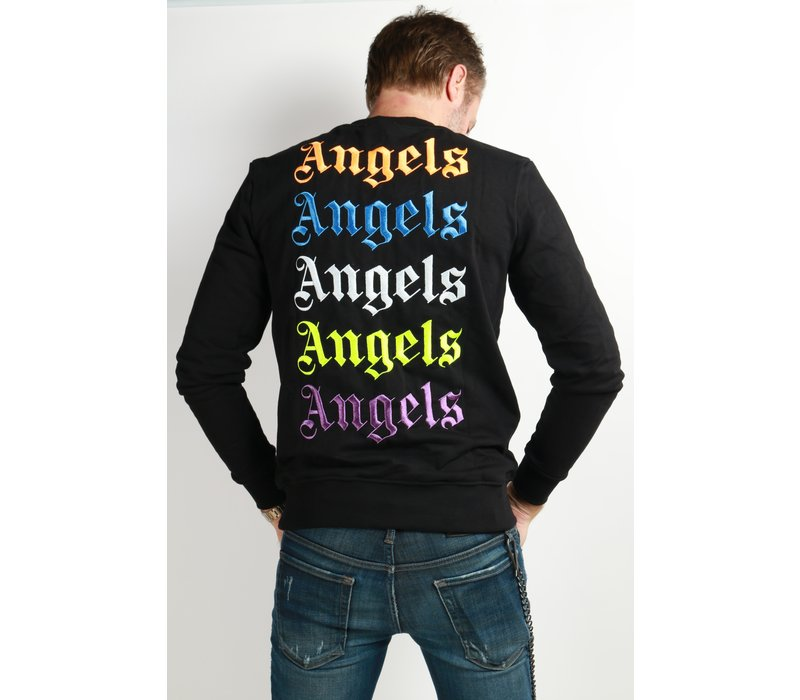 Get Well Jeans Angels Sweater Black