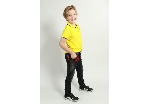 Get Well Icon Jeans Kids Black/Red