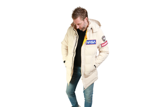 Get Well Jeans Nasa Coat Z-1584CT Creamy White