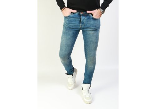 Cars Jeans Cars Jeans Dust Dark Used - Super Skinny Fit