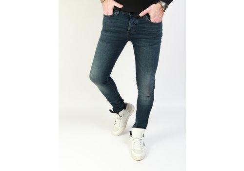 Cars Jeans Cars Jeans Dust Blue Black - Super Skinny Fit