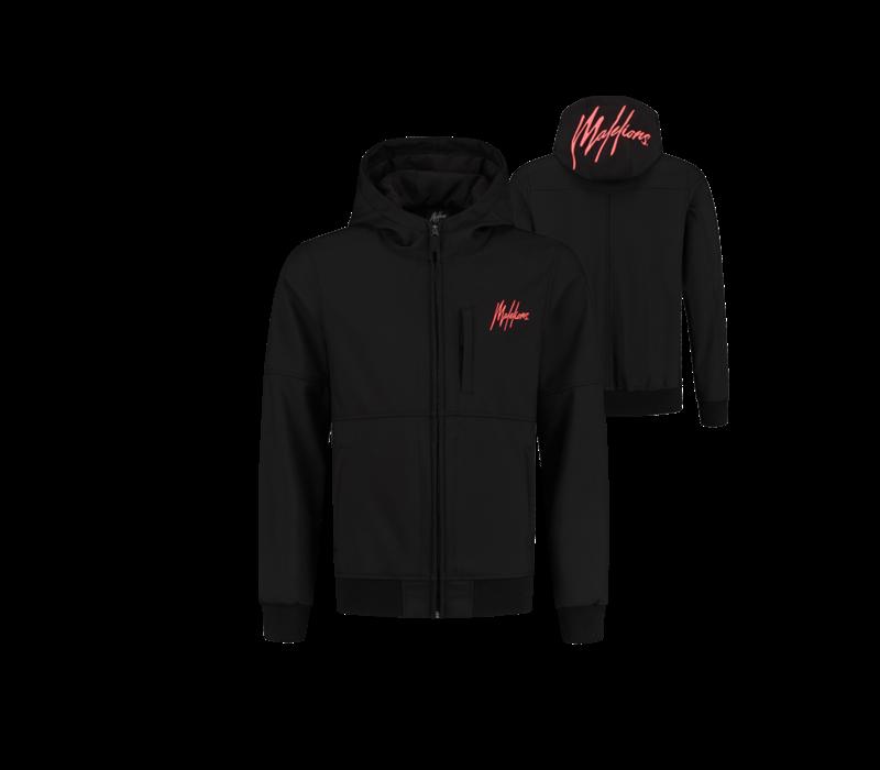 Malelions Softshell Jacket Black/ Neon Red