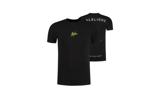 Malelions Malelions Gyzo T-shirt Black/Neon Yellow
