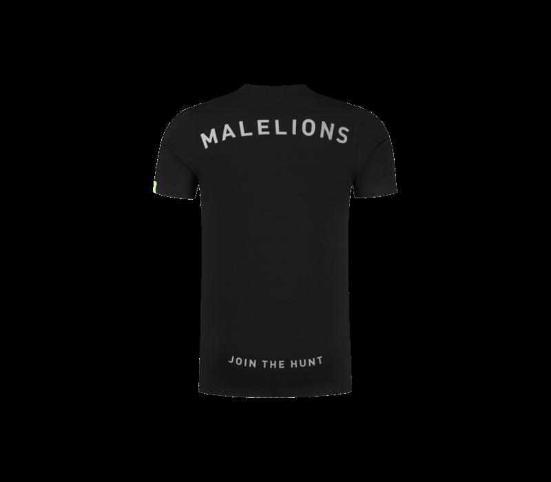 Malelions Gyzo T-shirt Black/Neon Yellow