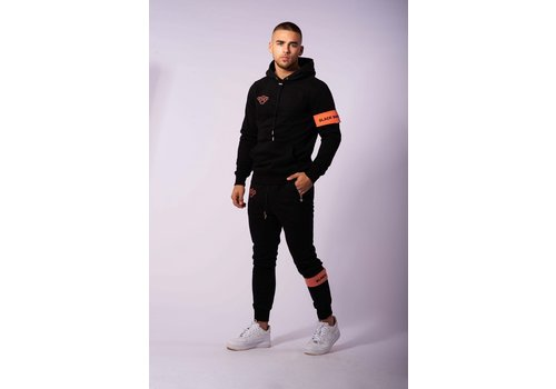Black Bananas Black Bananas Command Hoody Black/ Peach