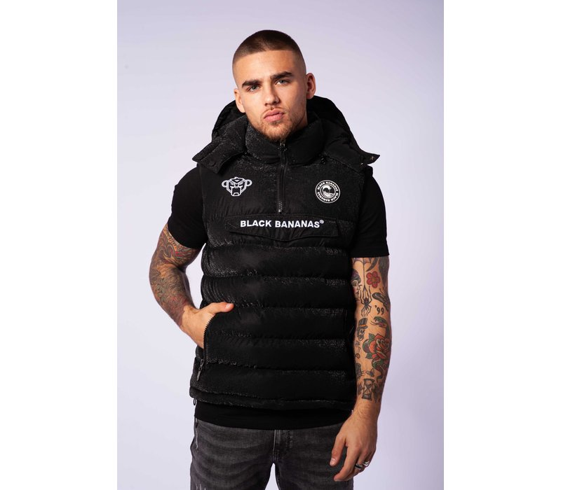 Black Bananas  Anorak Block Bodywarmer Black