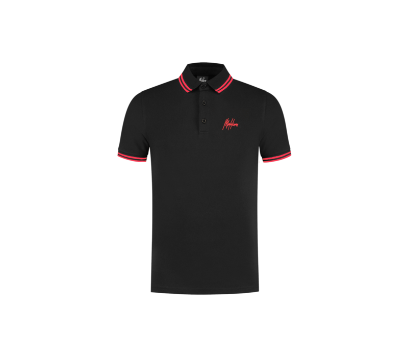 Malelions Din Polo Black/Red