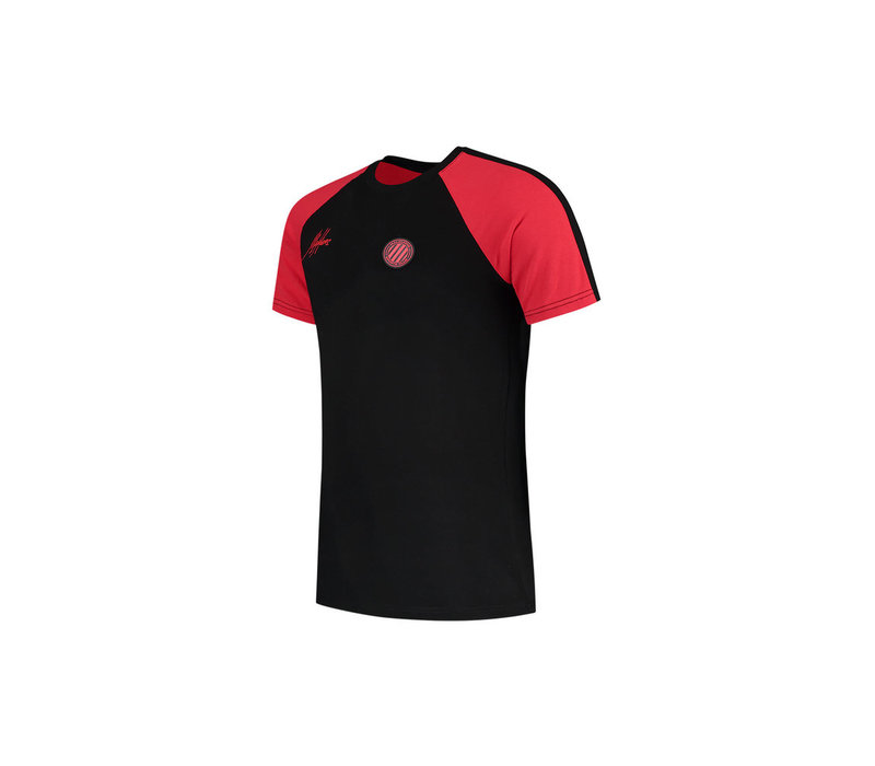 Malelions Sport Striker T-shirt Black/Neon Red