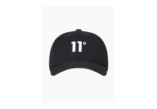 11 Degrees 11 Degrees Baseball Logo Cap Black/White