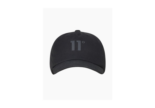 11 Degrees 11 Degrees Baseball Logo Cap Blackout