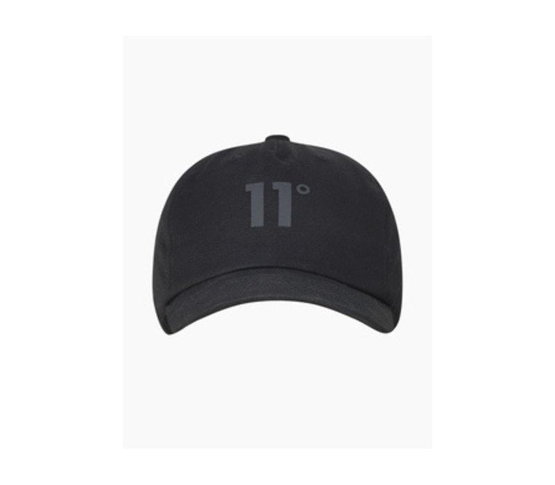 11 Degrees Baseball Logo Cap Blackout