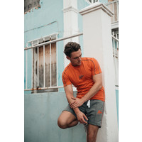 Malelions Thies T-shirt 2.0 Peach/Matt Grey