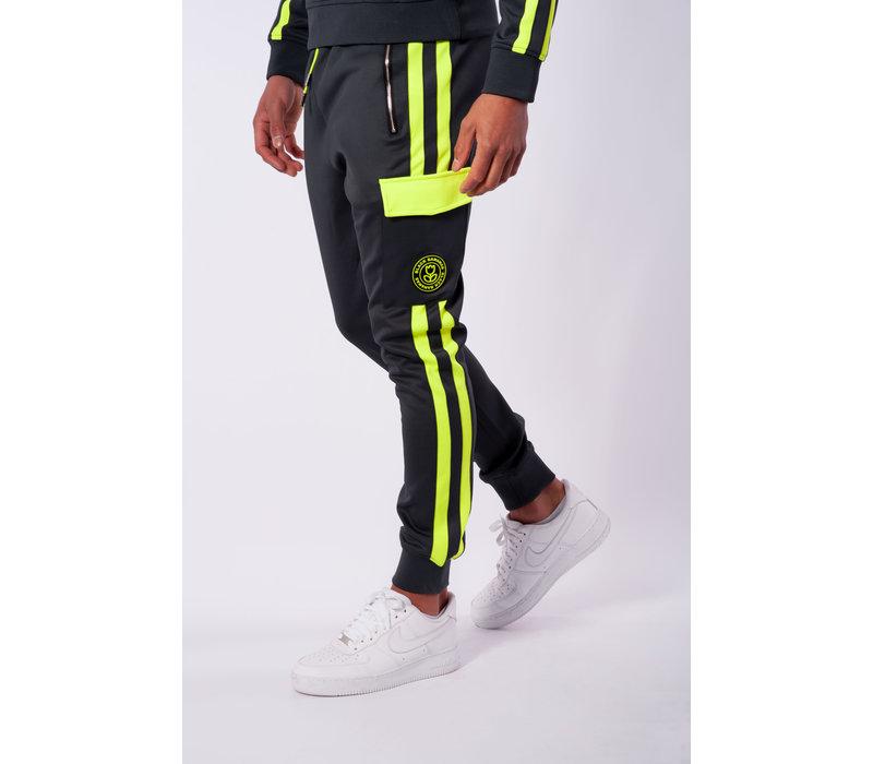 Black Bananas Match Trackpants Grey