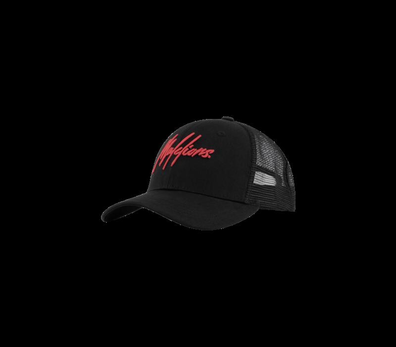 Malelions Cap Black/Neon Red