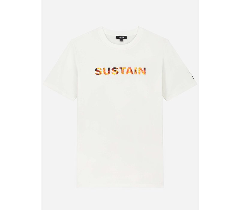 Sustain Flame Logo Regular White