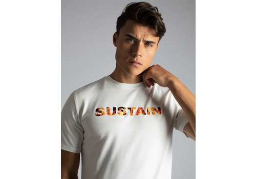 Sustain Sustain Flame Logo Regular White