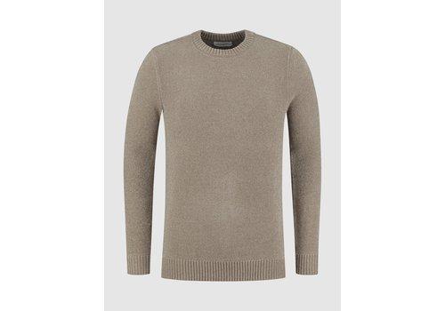 Purewhite Purewhite 21030824 Soft Side Sweater Taupe