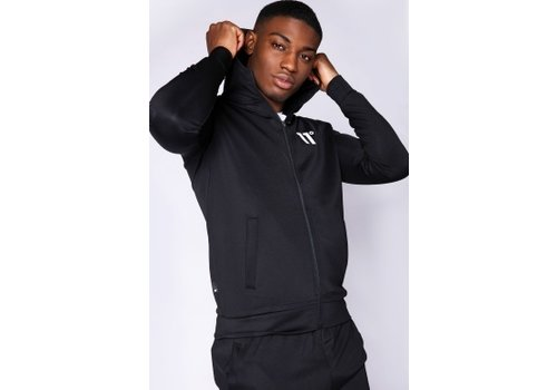 11 Degrees 11 Degrees Core Full Zip Poly Tracktop Black