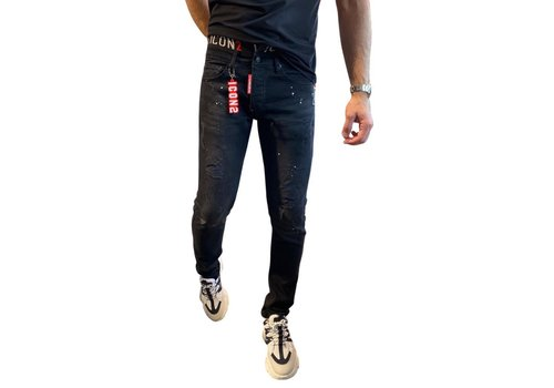 Get Well Icon Jeans Boxerband 9741 Black