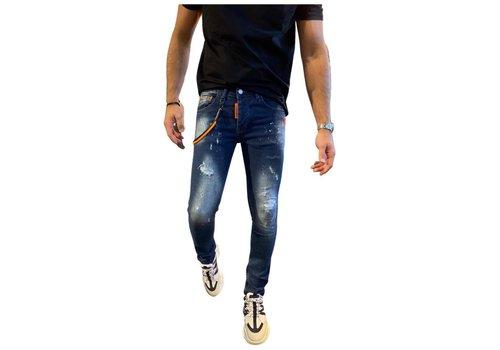 Get Well Icon Jeans 9730 Blue/Orange