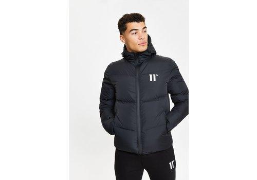 11 Degrees 11 Degrees Large Panelled Puffer Jacket Black