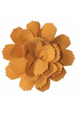 Drukkerapplicatie midi bloem okergeel