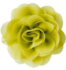Voile roos, geel-groen