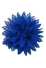 Drukkerapplicatie Kanten bloem, Kobalt