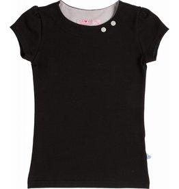 Shirt 'Basic' korte mouw Zwart