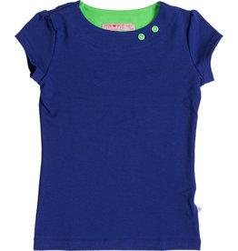 Shirt 'Basic' korte mouw Kobalt