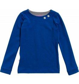 Shirt 'Basic' met lange mouw Kobalt