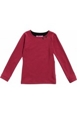 Shirt 'Basic' met lange mouw Bordeaux