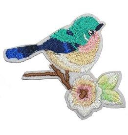 Vogel met bloem