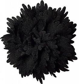 Gekartelde bloem zwart