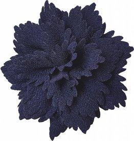 Gekartelde bloem navy
