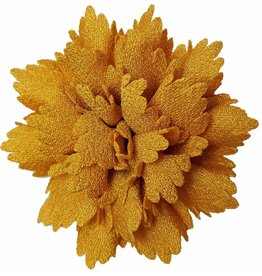 Gekartelde bloem goudgeel