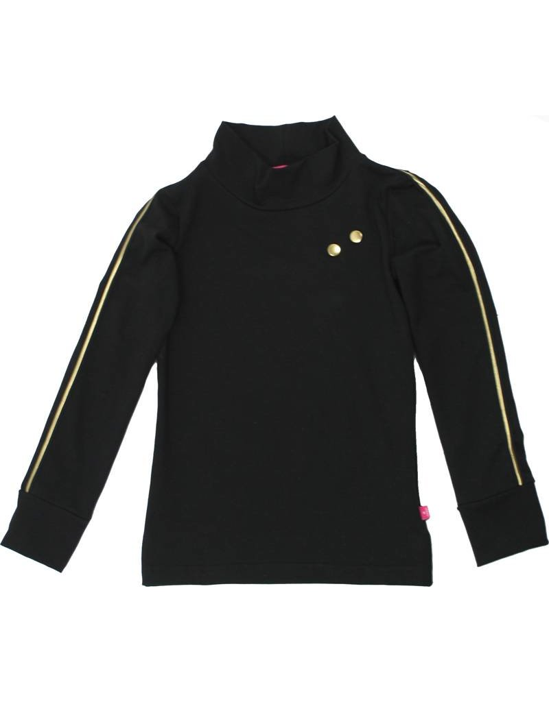 Shirt 'Turtleneck' lange mouw zwart