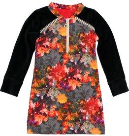 Jurk 'Zipperdress' met lange mouw bloemen