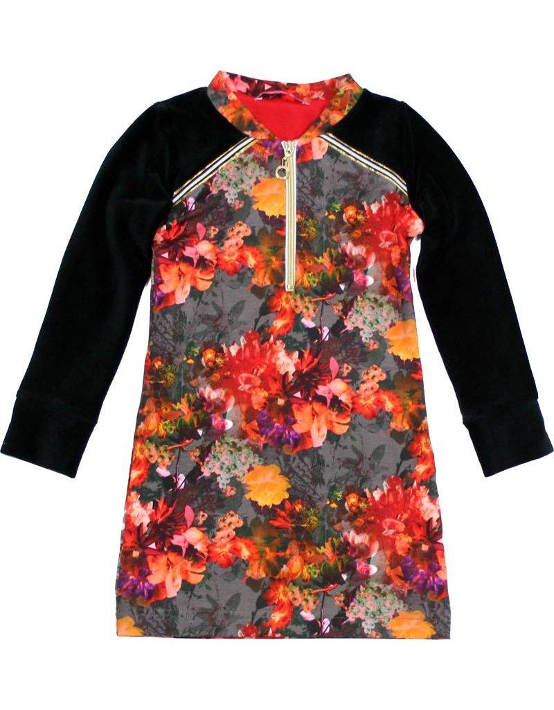Jurk 'Zipperdress' bloemen
