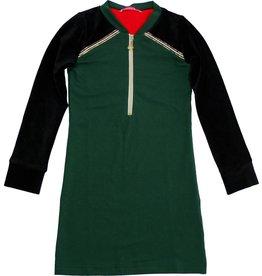 Jurk 'Zipperdress' met lange mouw groen, laatste maat 86/92