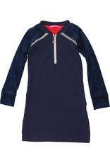 Jurk 'Zipperdress' met lange mouw navy