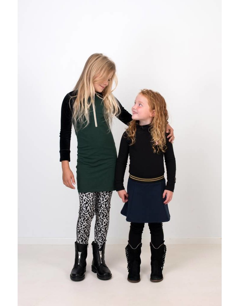 Jurk 'Zipperdress' met lange mouw groen