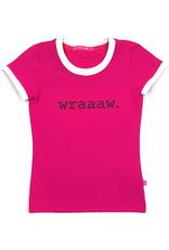 T-shirt met tekst, roze