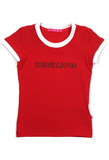 T-shirt met tekst, rood