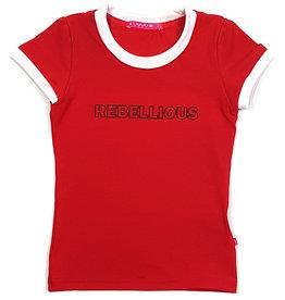 T-shirt met tekst, rood, 86/92