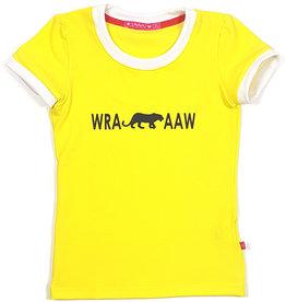 T-shirt met tekst, geel
