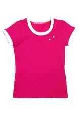 T-shirt met drukkers, roze